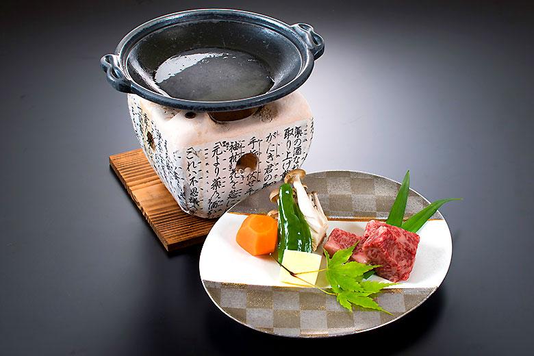 山形牛サーロイン陶板焼き