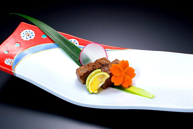【強肴】山形牛ヒレ肉の香味焼き
