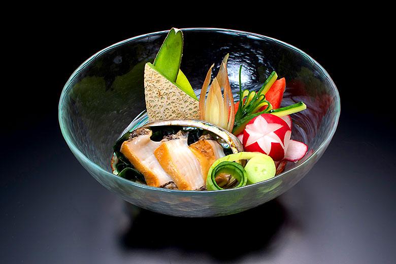 【冷菜】活鮑と地野菜の水貝(2021年8月末迄)