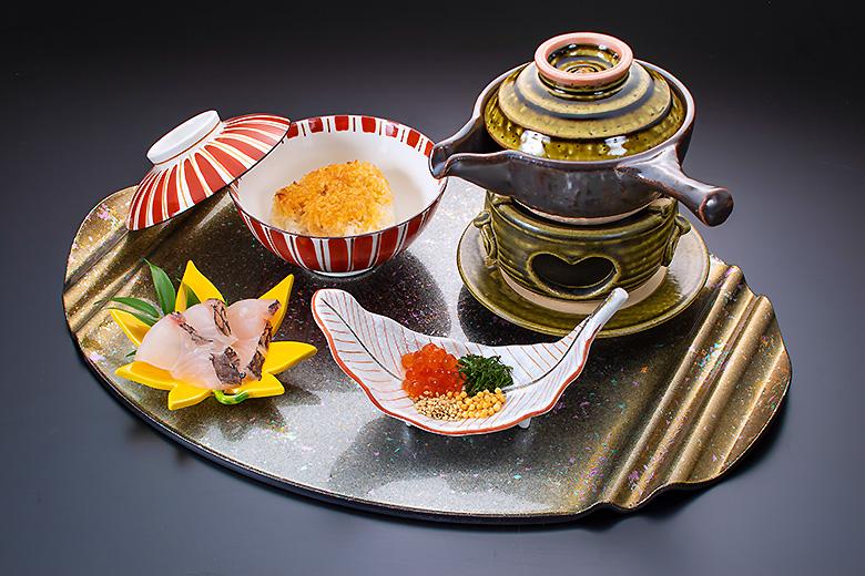 【お食事】真鯛茶漬け ほうじ茶風味